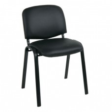 Καρέκλα Στοιβαζόμενη Γραφείου, Επισκέπτη Μέταλλο Βαφή Μαύρο, PVC Μαύρο SIGMA Woodwell 56x62x77υψ - Σωλ.35x16/1mm 23188 ΕΟ550,17W
